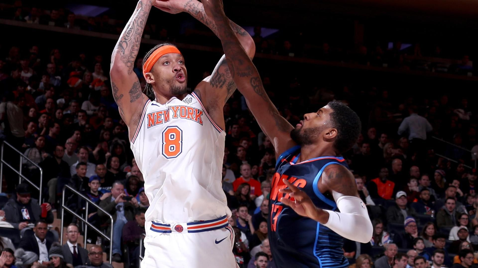 Beasley scores season-high 30 as Knicks top Thunder