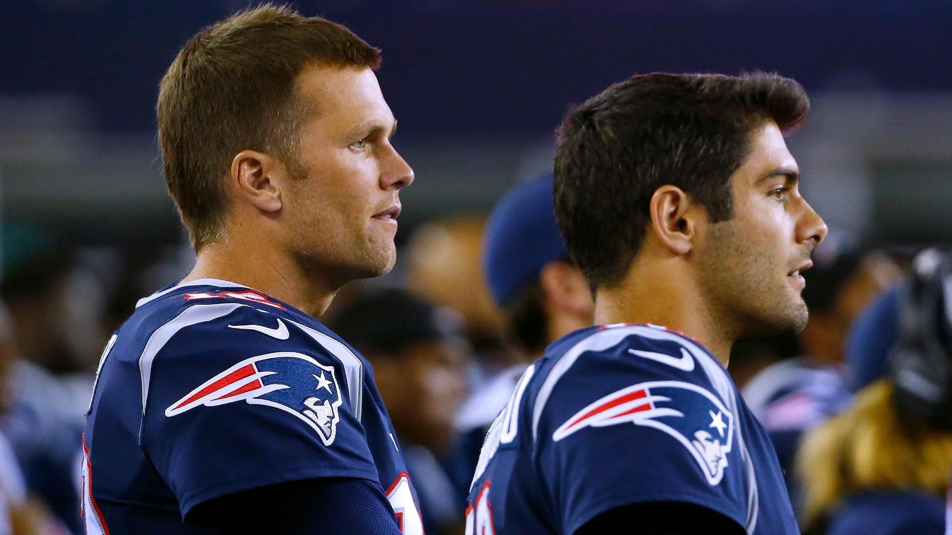 Brady denies celebrating Garoppolo's trade