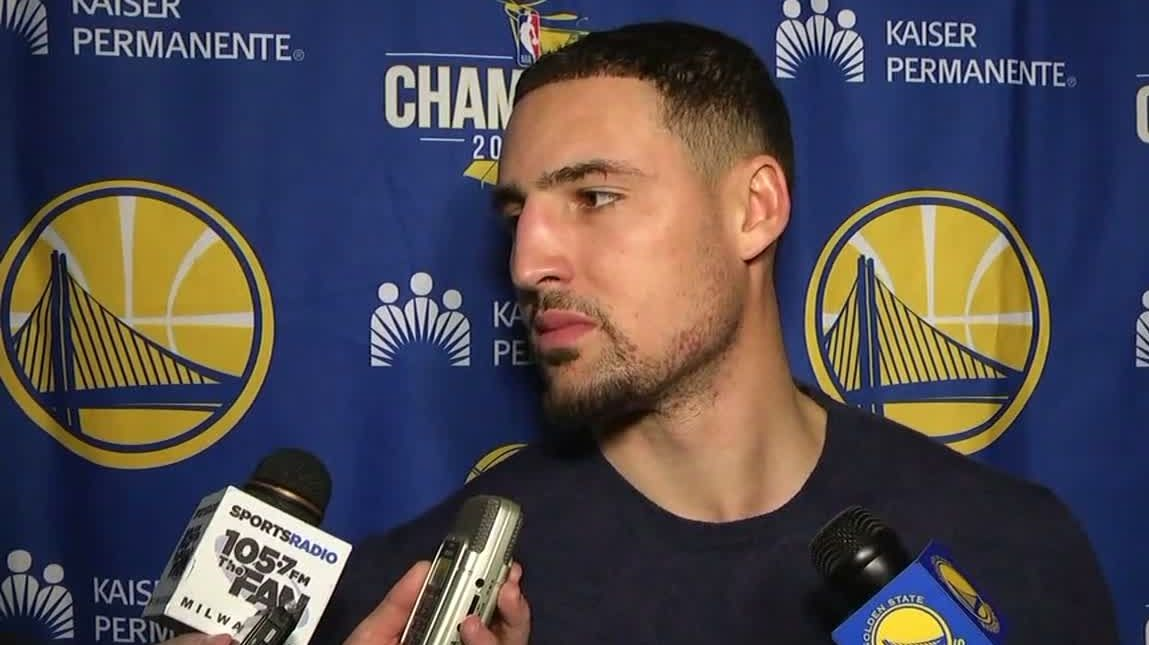 Thompson, Warriors discuss fan's ejection