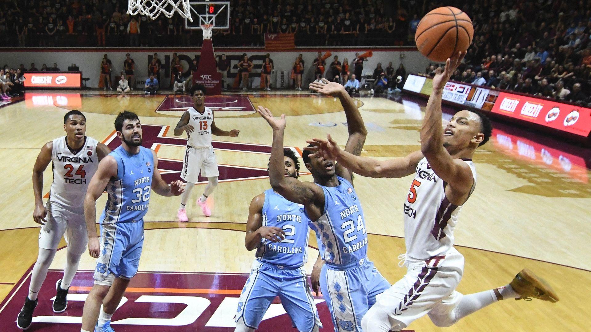 Virginia Tech pulls off upset of North Carolina