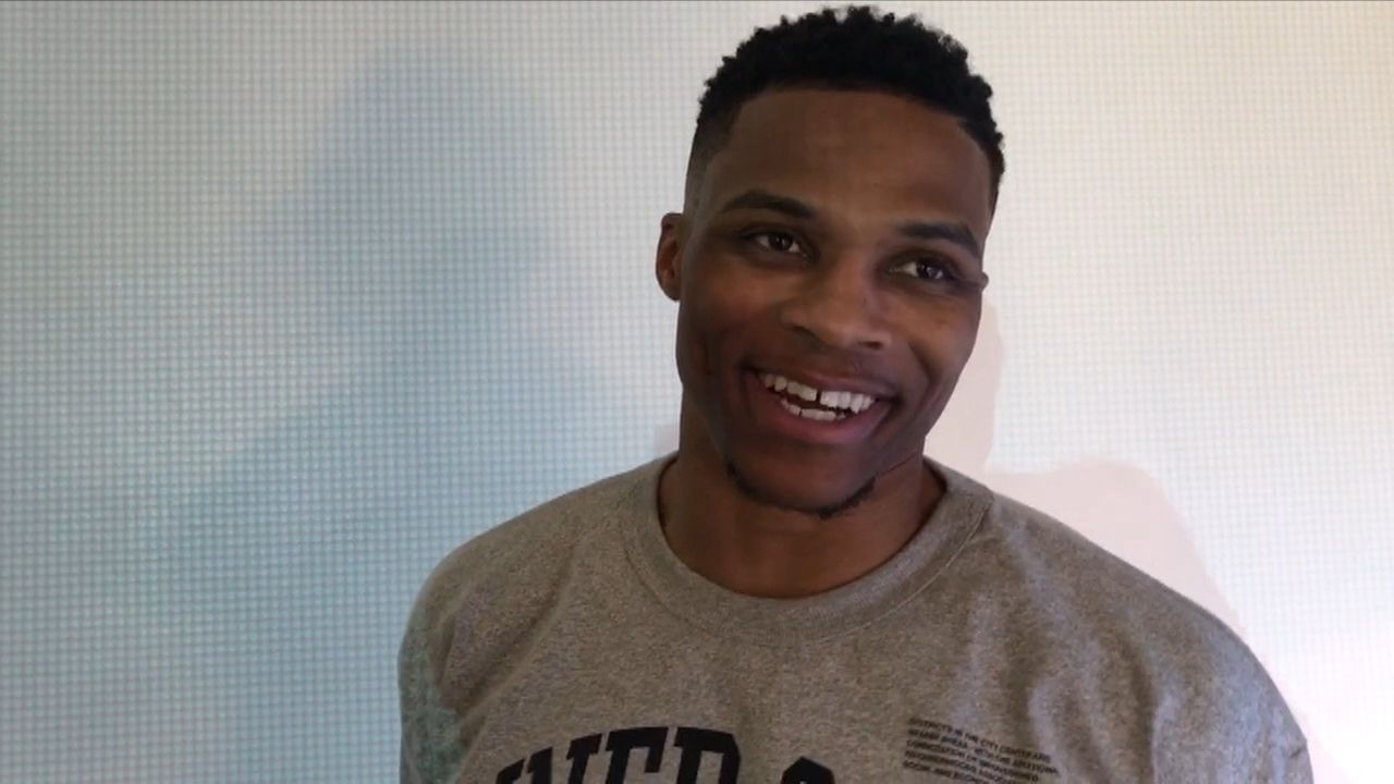 Westbrook shows off new fashion line