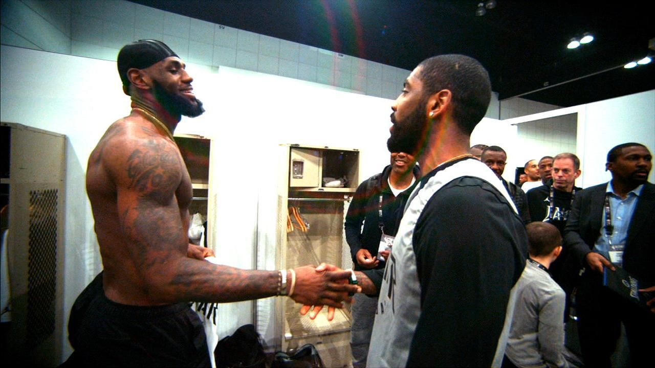 LeBron, Kyrie reunite for All-Star Game