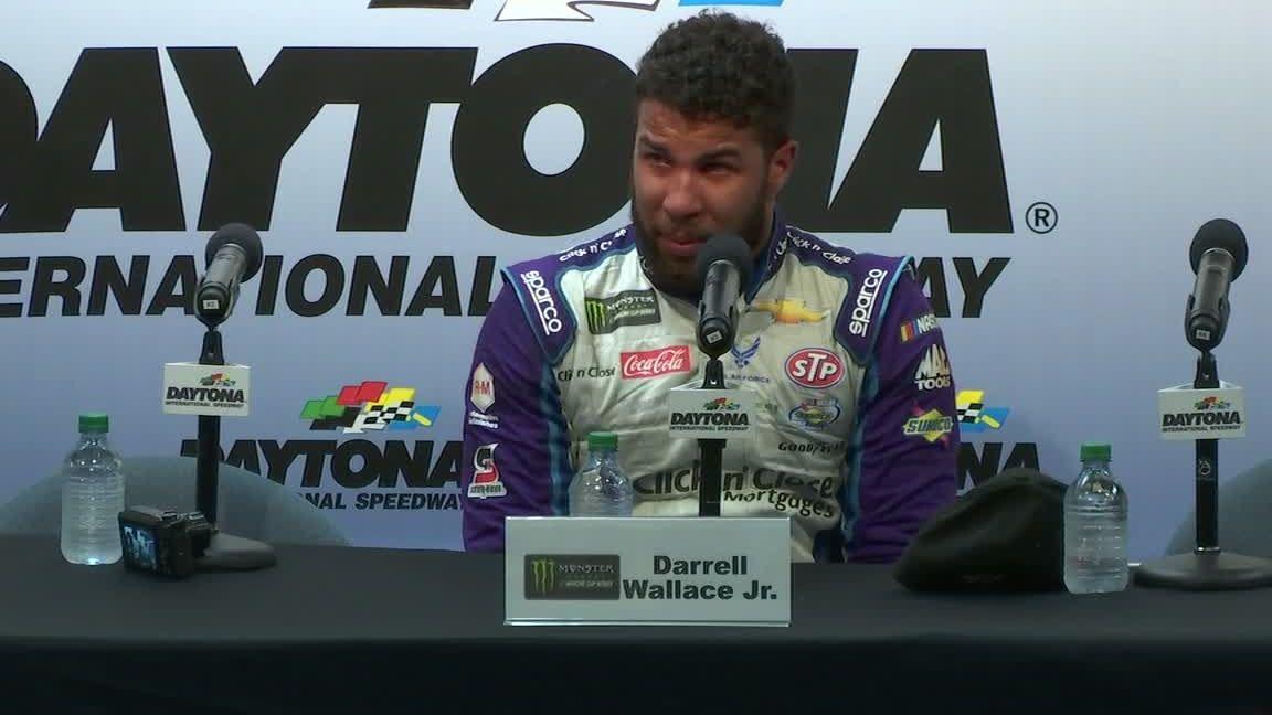 Wallace emotional after Daytona debut