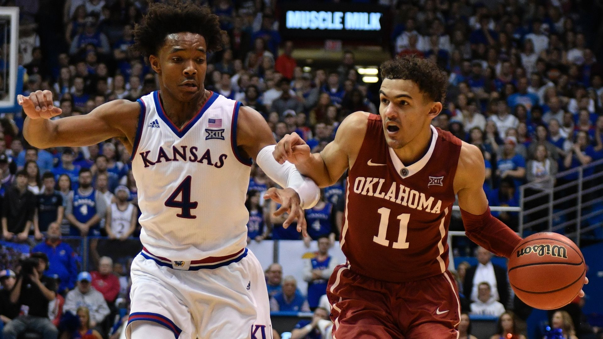 Kansas routs Young, Oklahoma