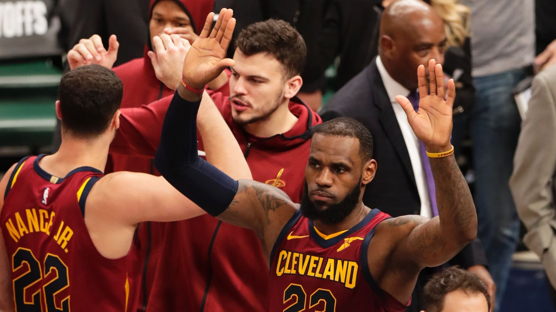 LeBron takes over to help Cavs even series