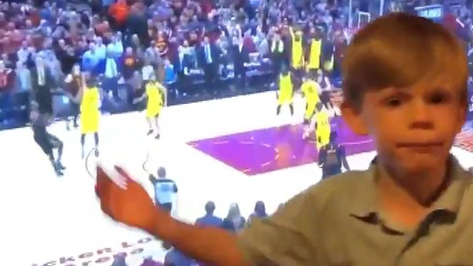 Kid calls game on LeBron's shot