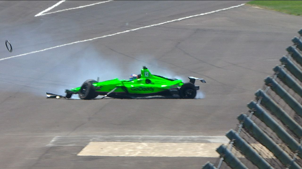 Danica Patrick crashes in final race