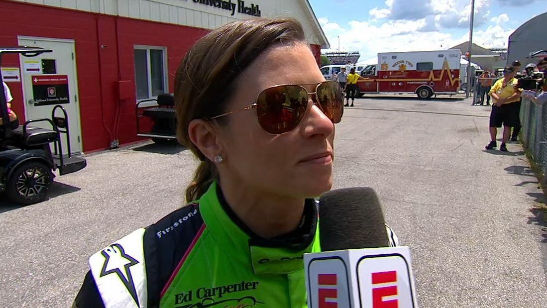 Danica emotional following crash in final race