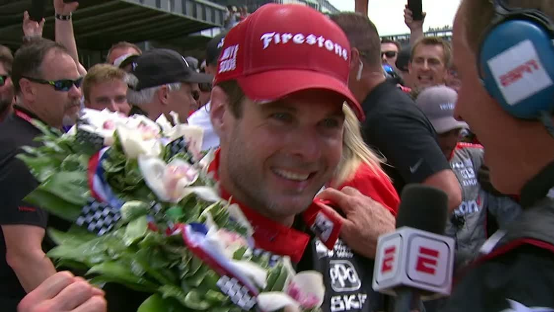 Power overcome with emotion after 1st Indy 500 win