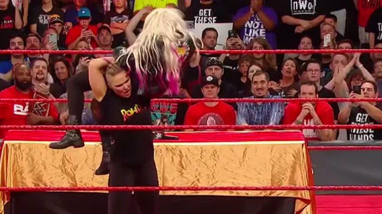 Rousey snaps on Kurt Angle, Alexa Bliss