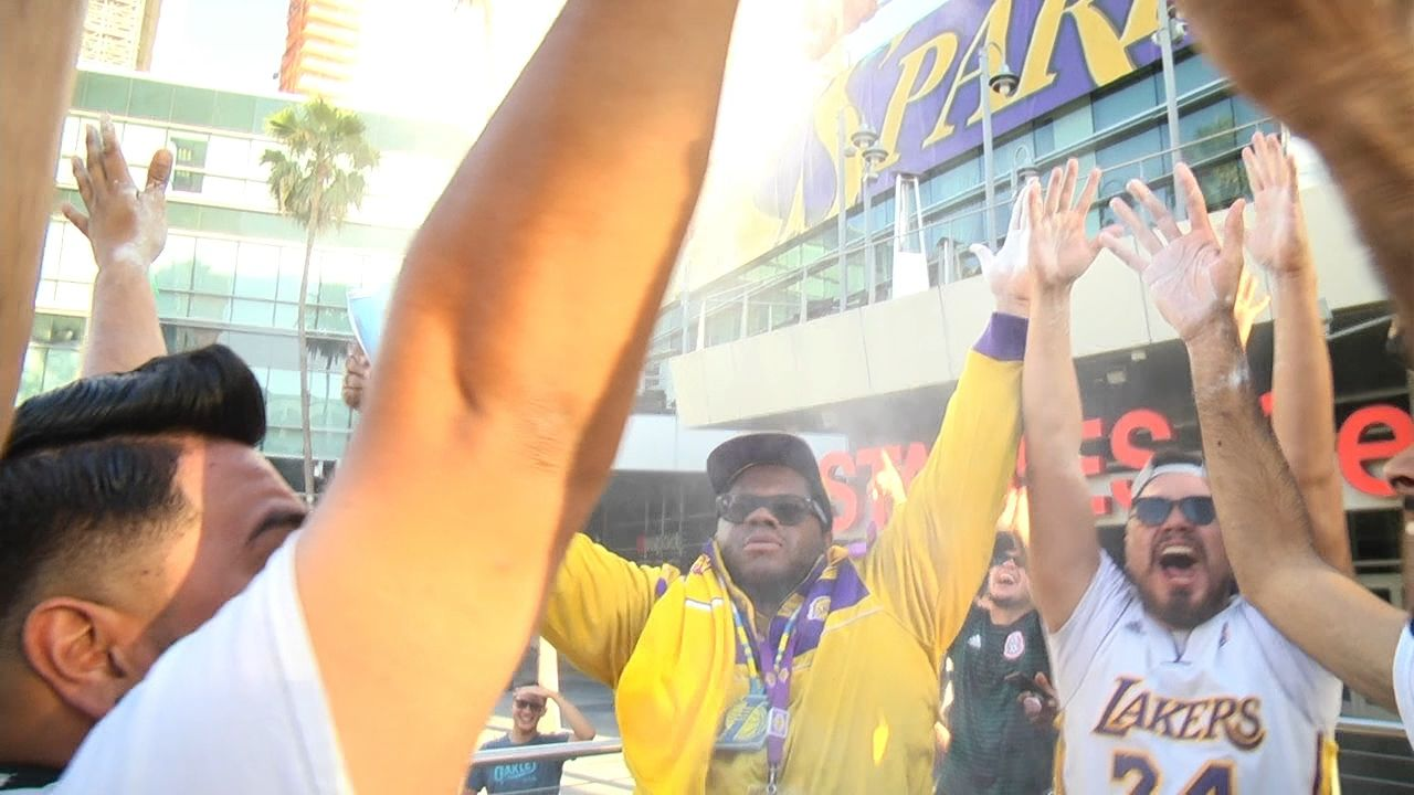 Euphoria at the Staples Center after LeBron's announcement
