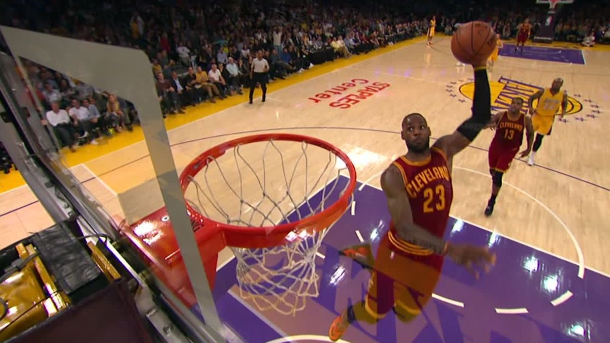 LeBron has put on a show at Staples Center before
