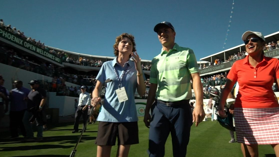 Morgan's wish to meet Jordan Spieth comes true