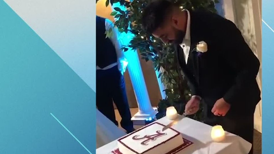 Alabama fans gets LSU cake surprise