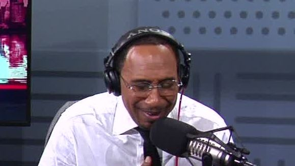 Stephen A. laughs at Knicks' projected win total
