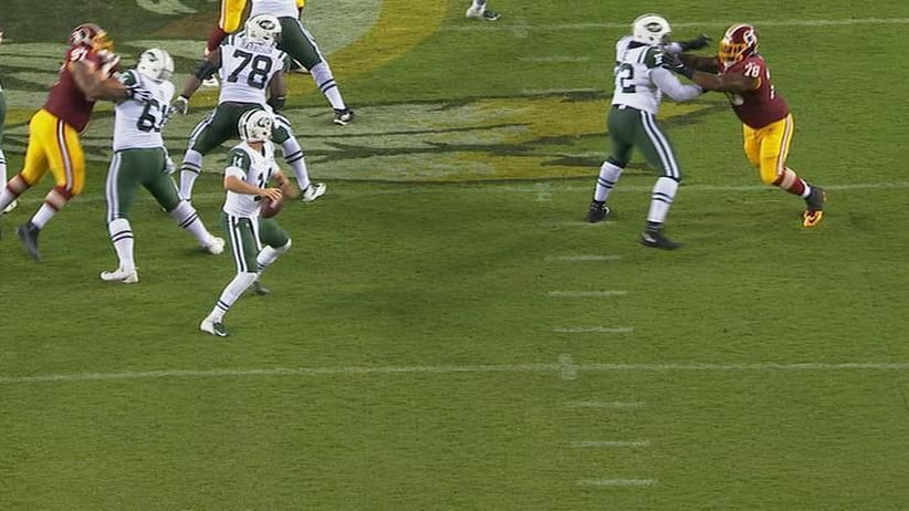 Darnold starts strong, but ends his day with INT