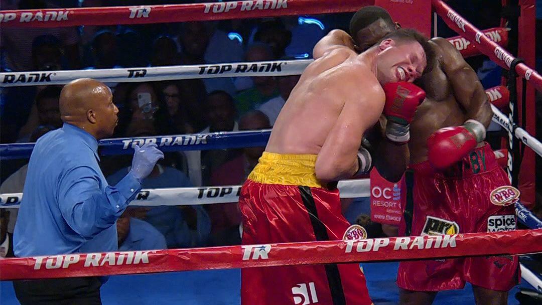 Jennings wins by TKO with huge uppercut
