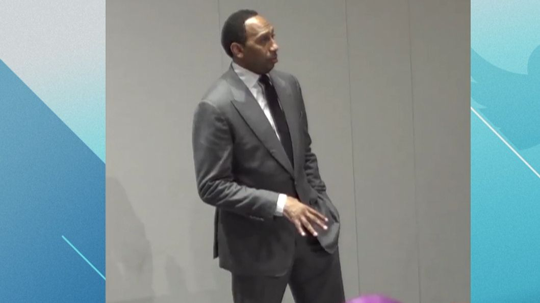 Stephen A. gives passionate speech to Syracuse football team