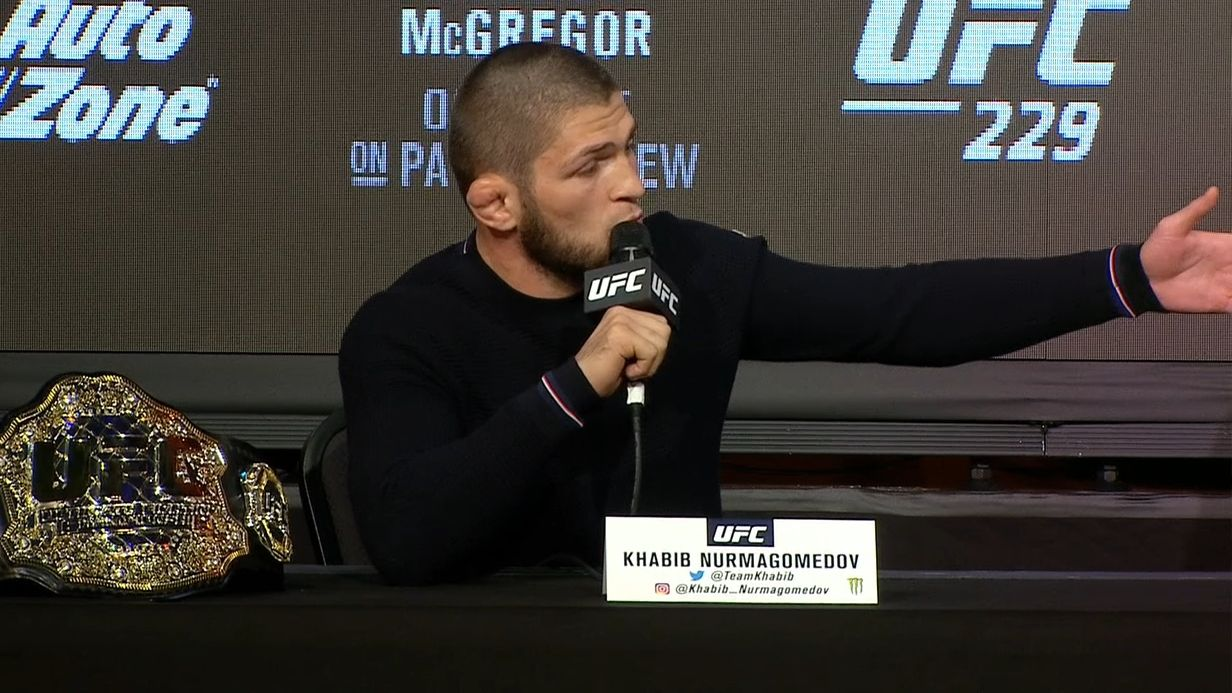 Khabib says he'll send McGregor 'back to boxing'