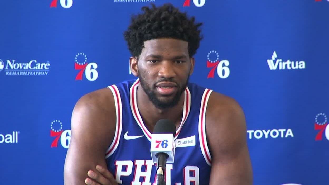 Embiid jokes about dunking on new 76ers GM Brand