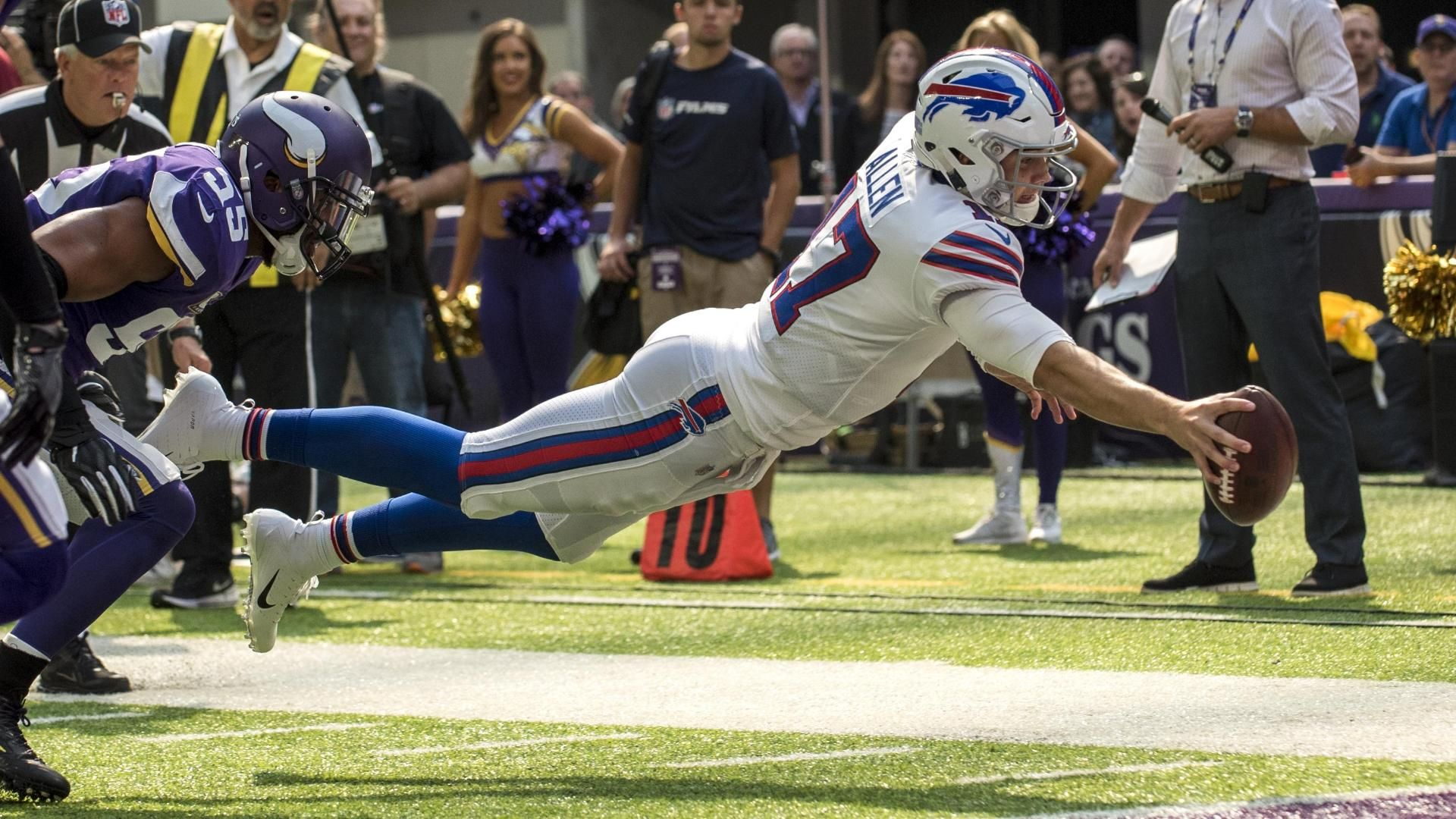 Allen enjoys breakout performance in Bills' shocking upset