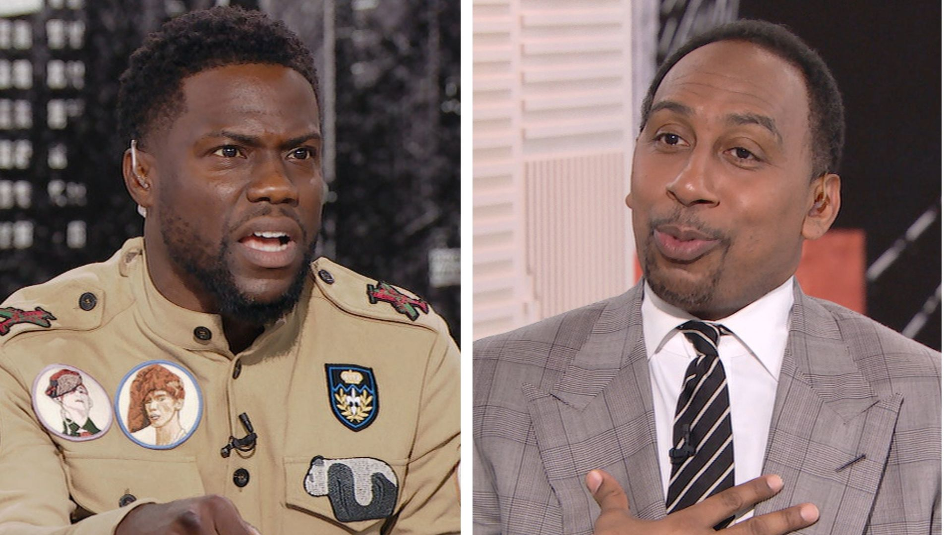 Stephen A. and Kevin Hart get heated