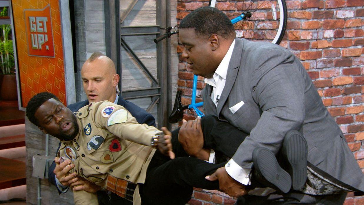Practicing safe sacks with Kevin Hart