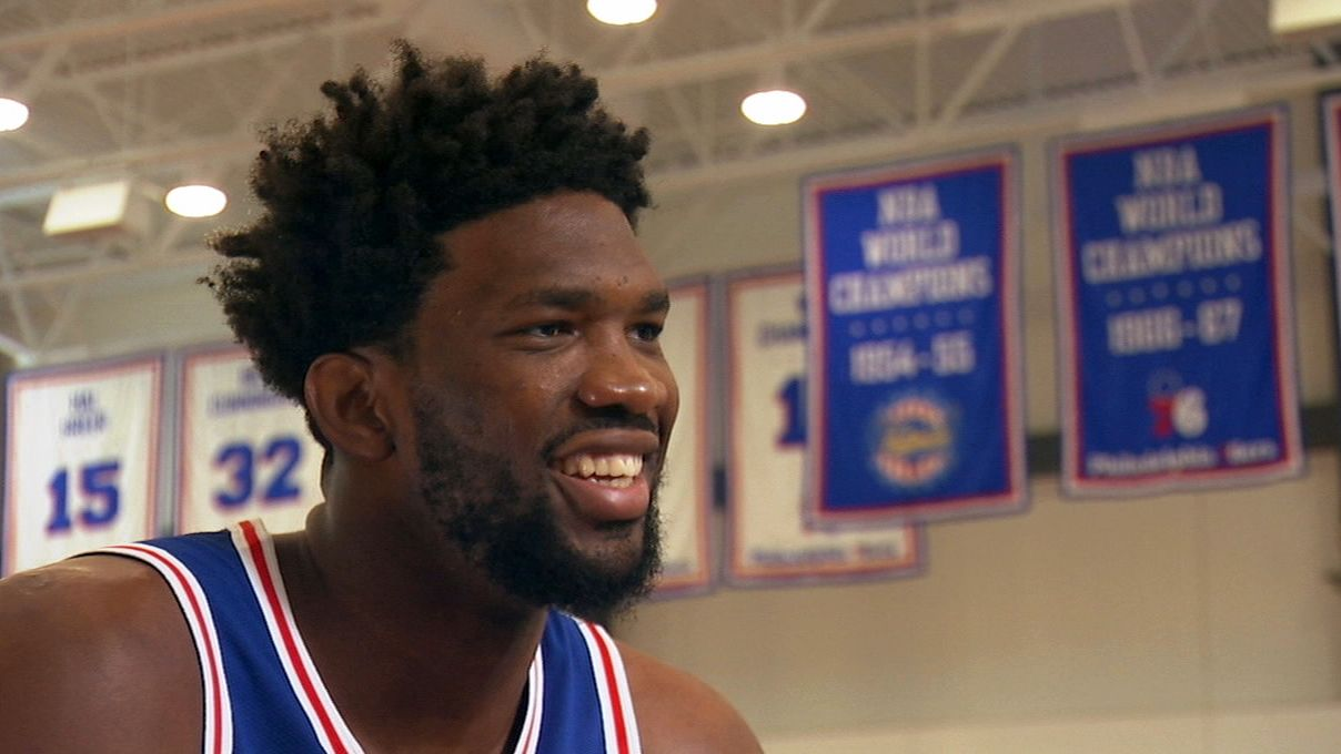 Embiid hopes to follow in Jordan and Hakeem's footsteps
