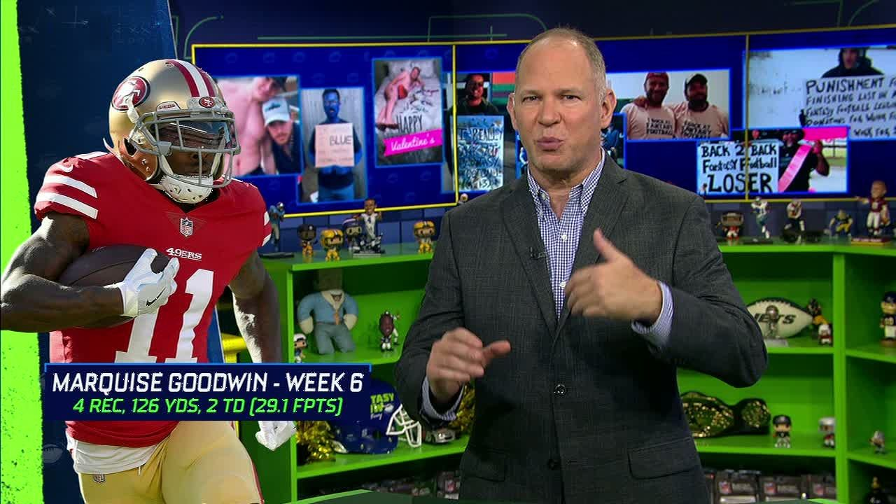 Berry says Goodwin is top fantasy waiver wire WR for Week 7