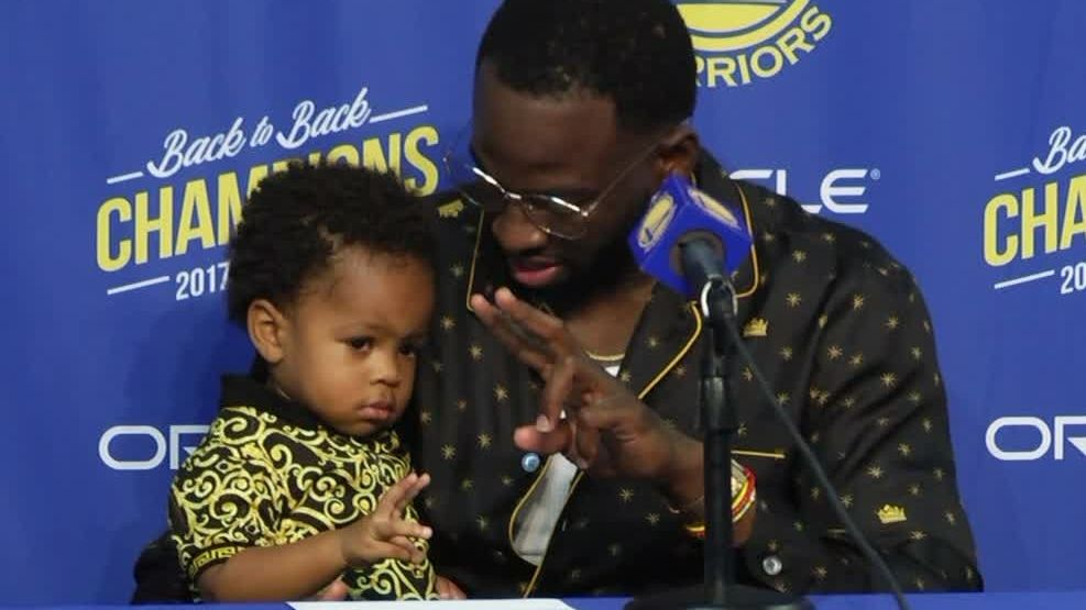 Draymond's son wants nothing to do with presser