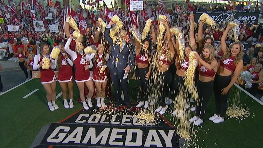 College GameDay's tribute to Washington State's 'Popcorn Guy'