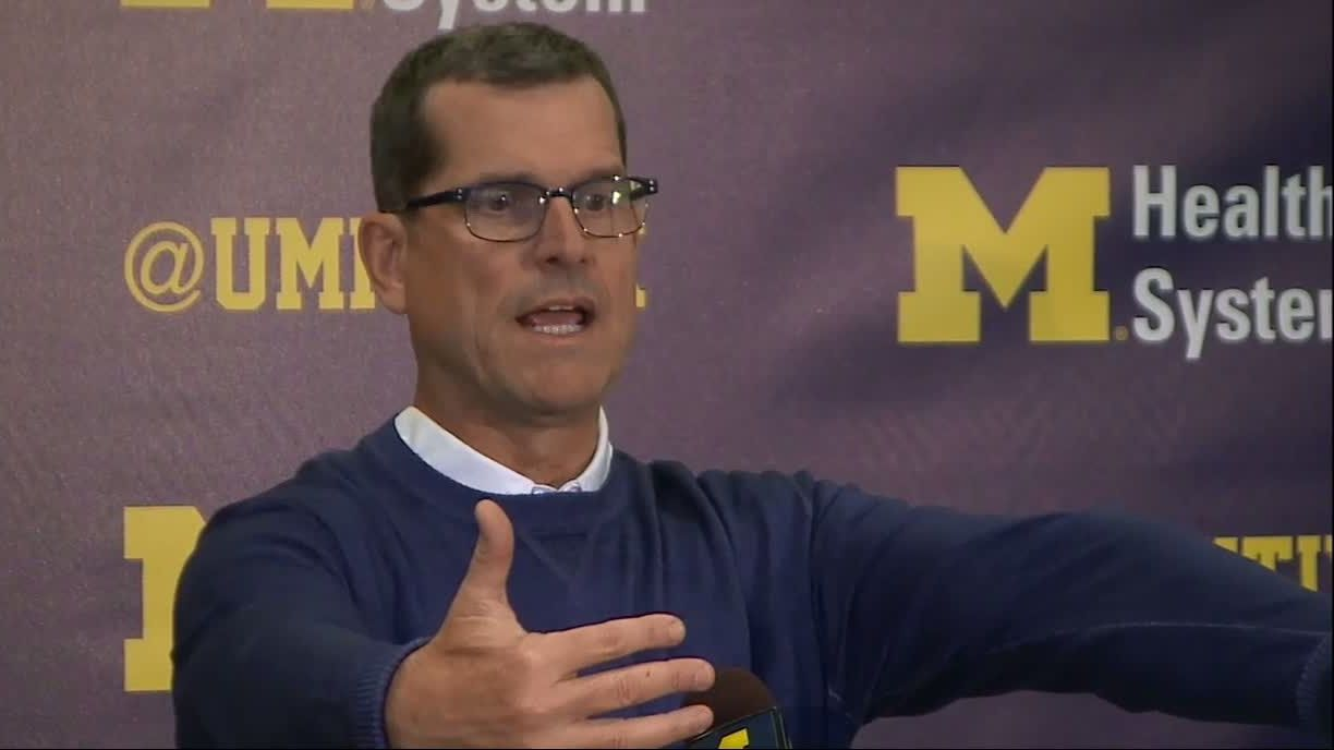 Harbaugh criticizes Spartans 'stormtrooper march' as 'Bush League'