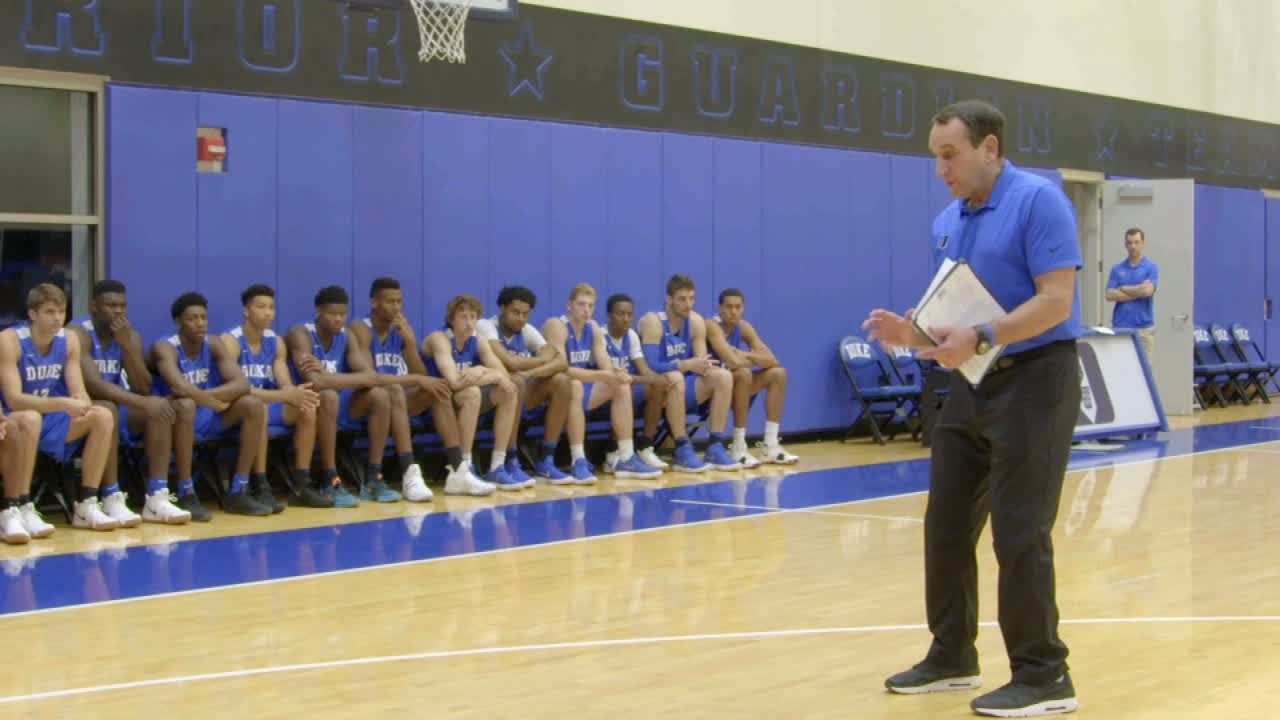 Coach K shares the message he gave to Kobe with Duke