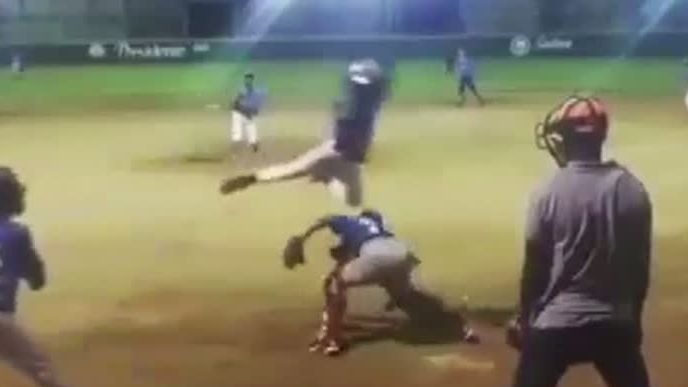 Little Leaguer flies over catcher to steal home