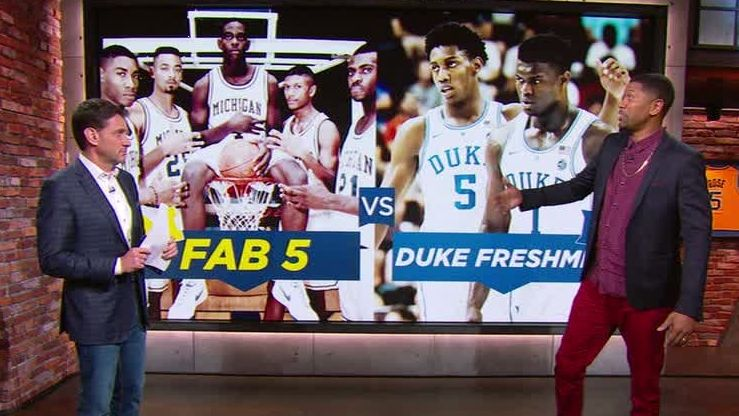 Rose would take his Michigan Fab Five over Zion's Duke team