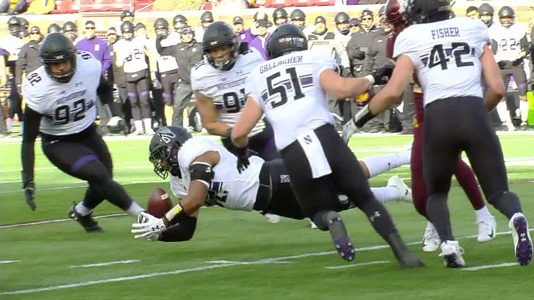 Northwestern grabs INT on wild tipped pass