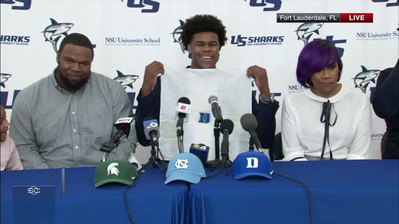 No. 3 recruit Vernon Carey Jr. commits to Duke