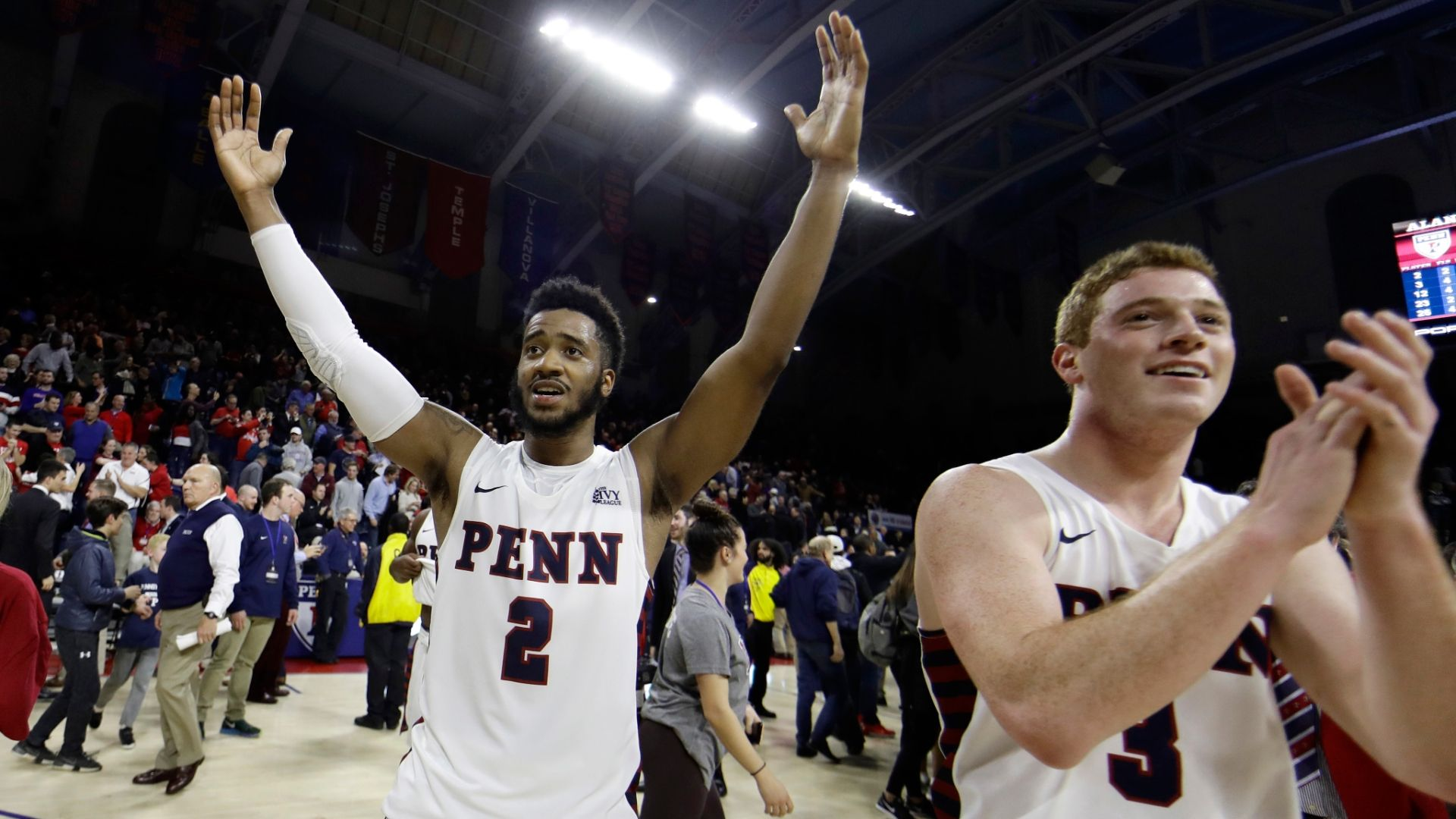 Penn makes clutch plays down the stretch to upset No. 17 Nova