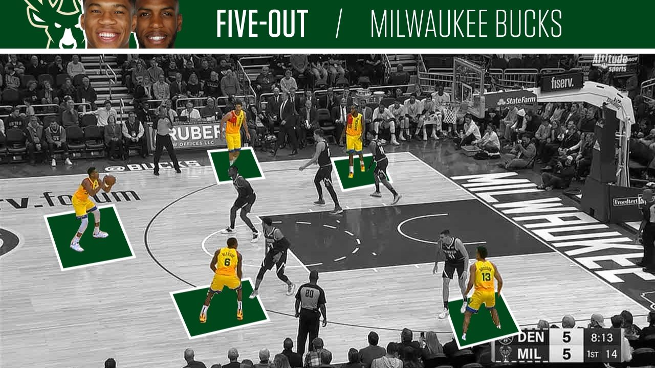 Bucks space floor with five-out set.