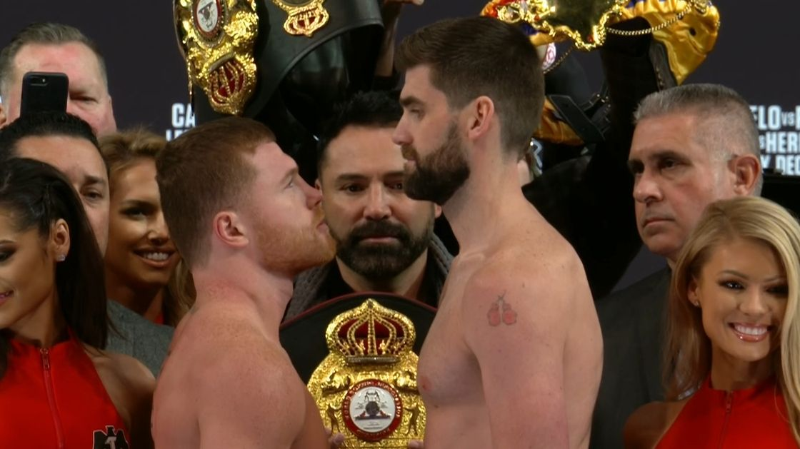 Canelo, Fielding face off before super-middleweight debut