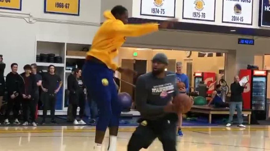KD gets dunked on by Boogie