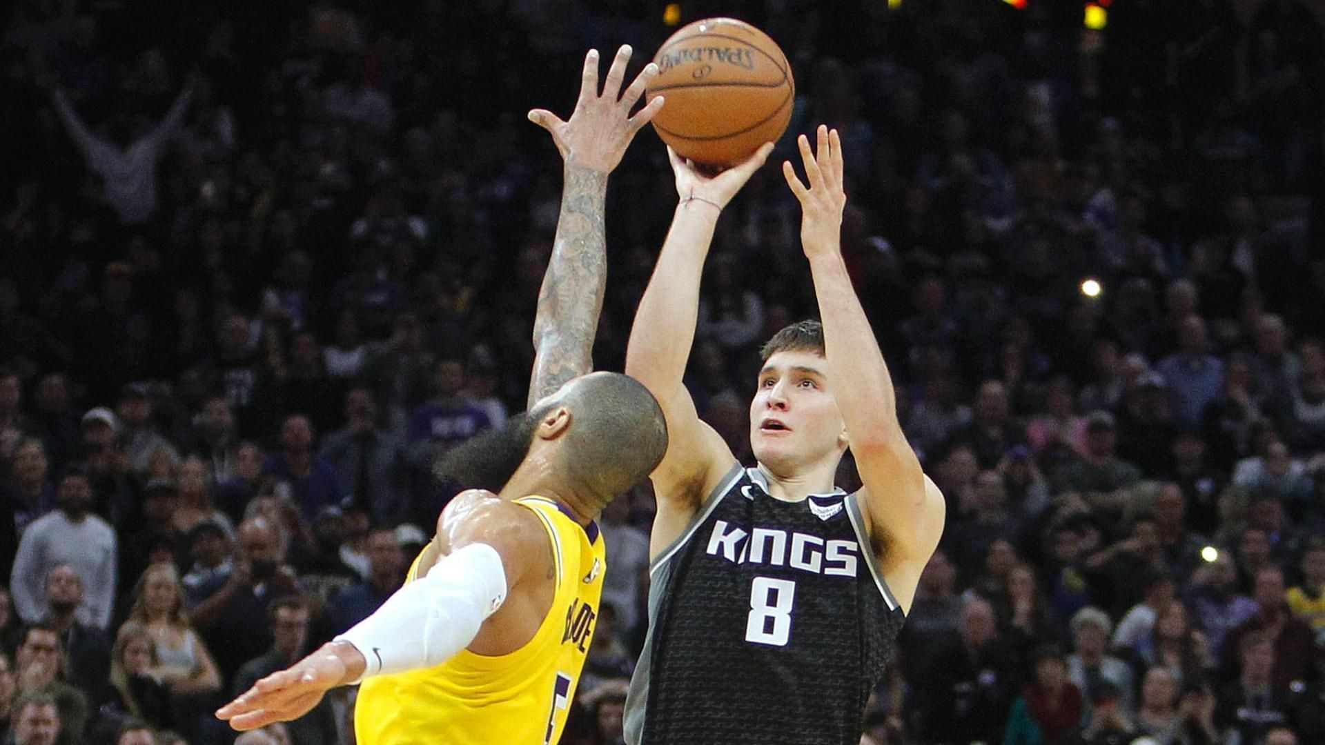 Bogdanovic's 3 at buzzer sends Kings past Lakers, 117-116 ...