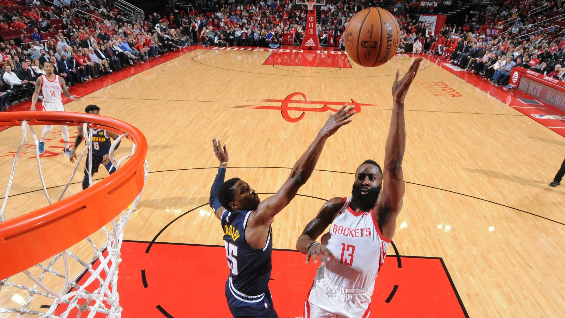 Harden's double-double carries Rockets past Nuggets