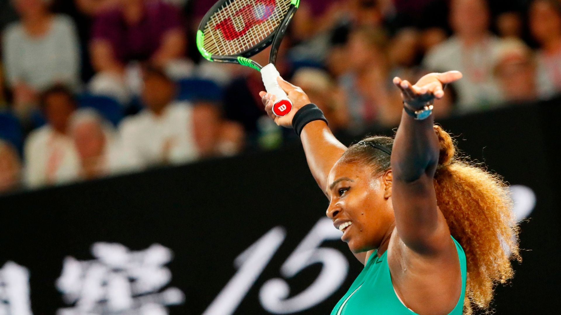 Serena wins 9th straight Australian Open match