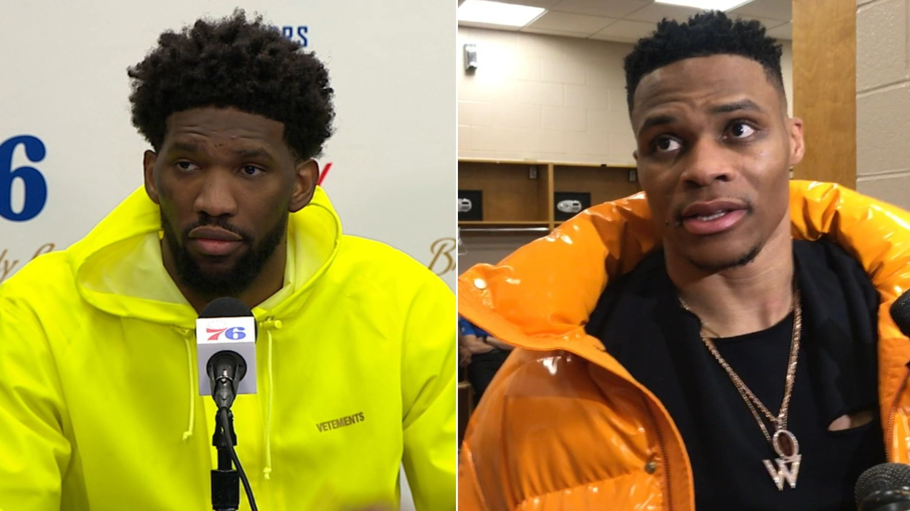 Embiid, Westbrook not fond of each other