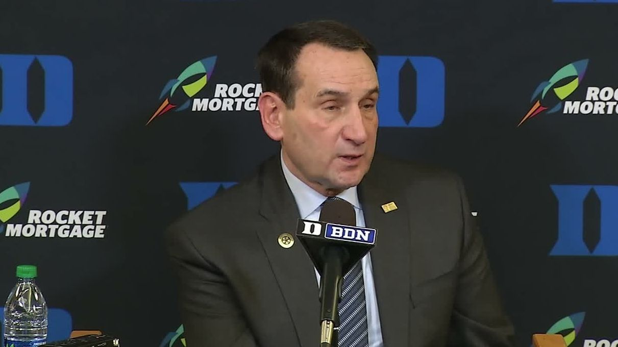 Coach K on Zion's dunks: 'Holy mackerel'