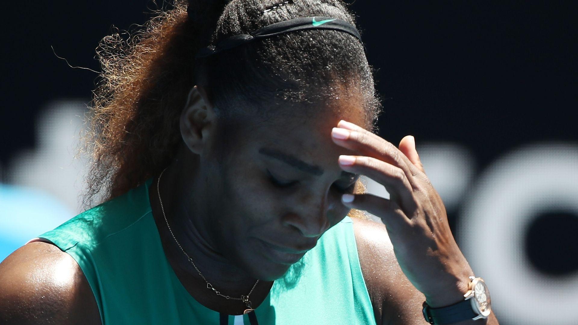 Serena hits net, falls to Pliskova