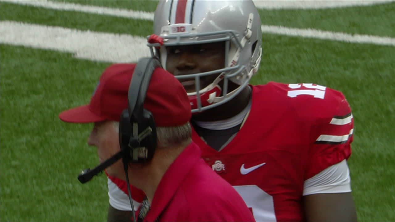 Cardale Jones throws second interception of first half