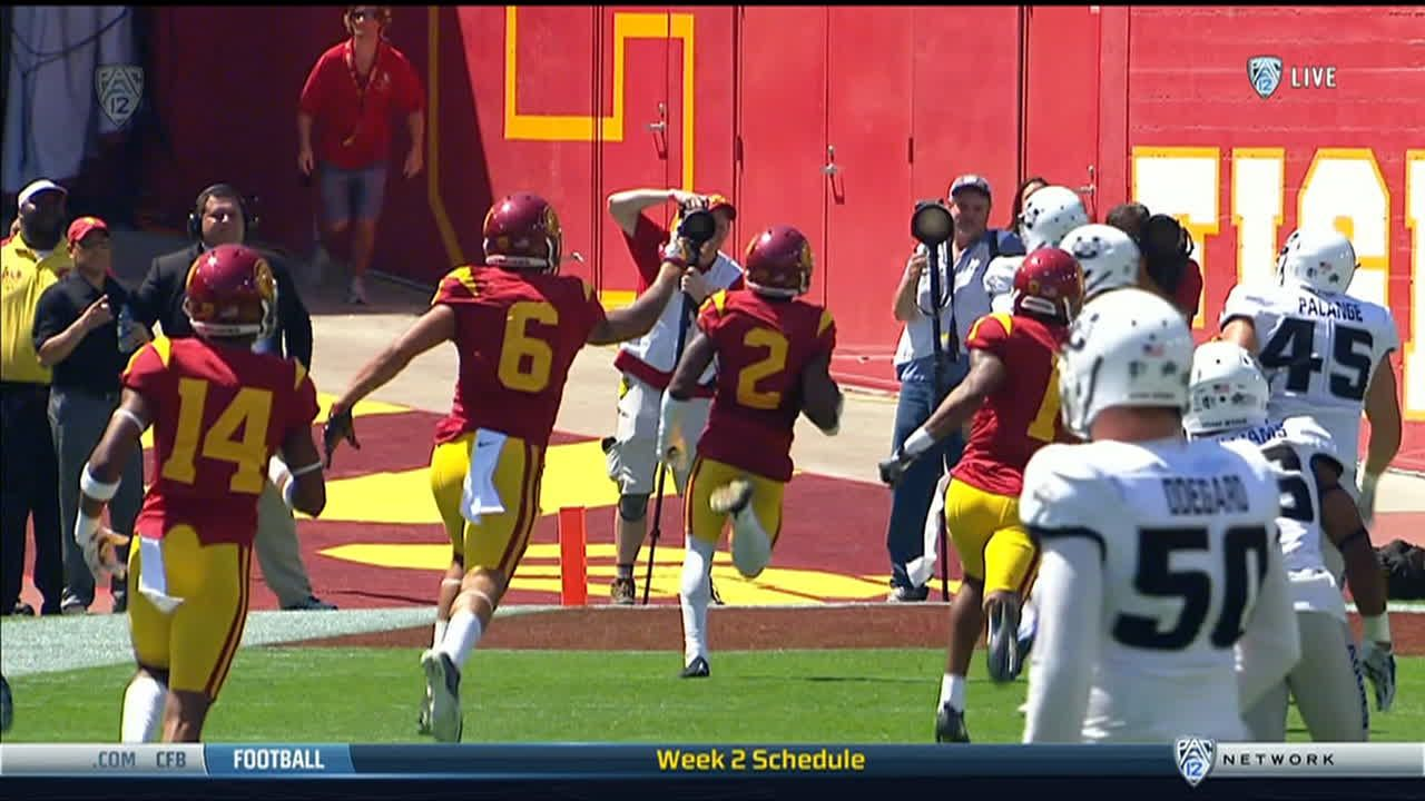 USC WR Jackson returns punt 78 yards to the house