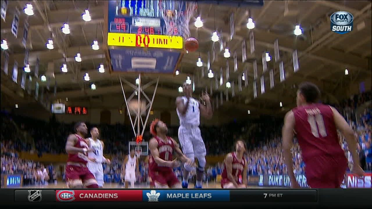Giles gets the accidental basket and-1 for Duke